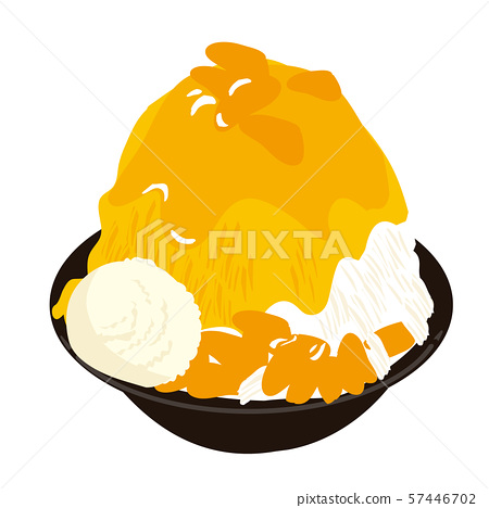 台灣刮了冰芒果例證 57446702