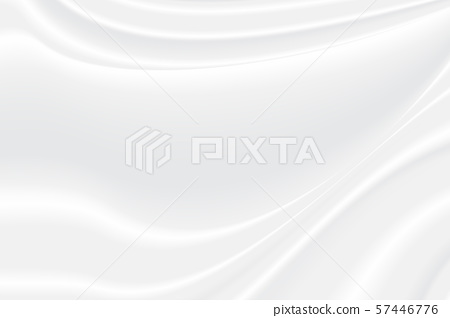 Abstract white and gray vector background. Satin 57446776