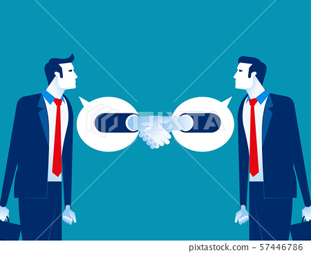 Partner business agreement successful. Concept 57446786