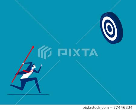 Businessman shooting aim target. Concept business 57446834