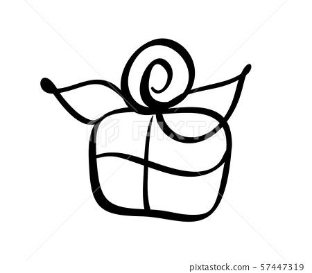 Christmas Gift Box Vector Icon Silhouette Stock Illustration 57447319 Pixta