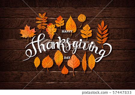 Thanksgiving greeting card. 57447833