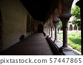 Cloister with areches and columns in NYC 57447865