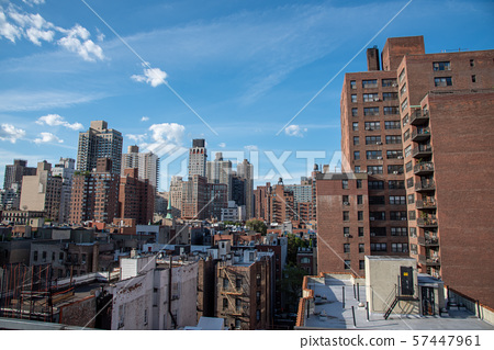 Upper East Side in Manhattan from a high up 57447961