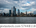Hudson Yards from a boat in the Hudson River 57448118