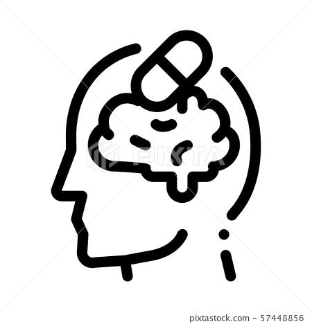 pills drugs man silhouette headache vector icon stock illustration 57448856 pixta pixta