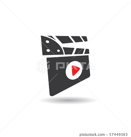 abstract film icon vector illustration 57449363