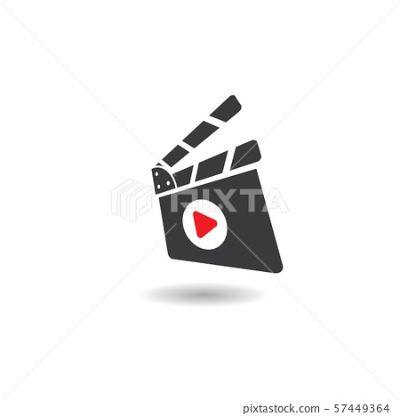 abstract film icon vector illustration 57449364