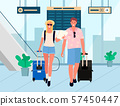 Business Trip or Holiday Relaxation Airport Couple 57450447
