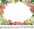 Hand drawn medicinal plant frame. Healing herbs border. isolated on white background 57450598