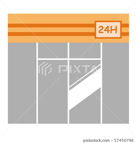 Convenience store store deformed illustration orange 57450796
