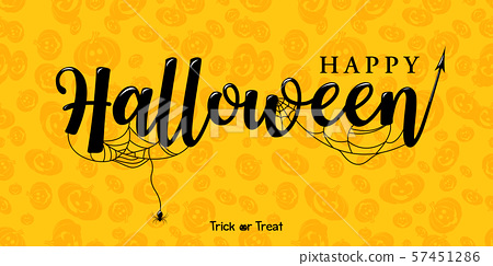 Happy Halloween Vector Lettering 57451286