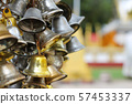Many bells for writing names to make merit at Thai 57453337