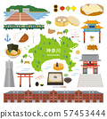 Kanagawa Prefecture special product sightseeing illustration set 57453444