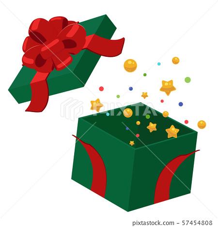 被打開的聖誕節禮物盒例證 57454808