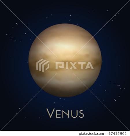 Icon of isolated Venus. Second solar system planet 57455963