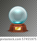 Isolated magic or crystal ball on transparent 57455975