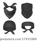 Set of isolated bandanna and face mask 57455989