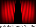 Entertainment curtains background for movies. 57456162