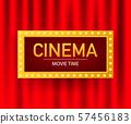 Cinema movie poster design template. Popcorn, 57456183