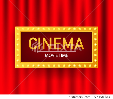 Cinema movie poster design template. Popcorn, 57456183