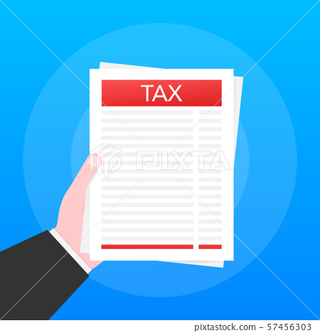 Taxation icon isolated. A simplified tax form. 57456303