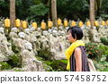 traveling modern Asian woman at a garden 57458752