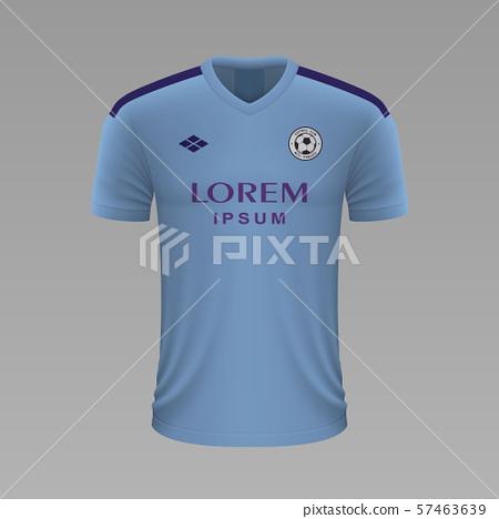 Realistic soccer shirt. Vector illustration 57463639