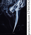 Incense stick smouldering with white aromatic 57464362