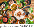 Thai food served on dining table / Tradition 57465431