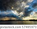 thunder storm sky Rain clouds . 57465973