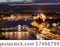 Budapest city, Hungarian Parliament and the Chain Bridge in Hungary 57466799
