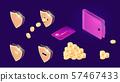 Money transfer icons isometric 57467433