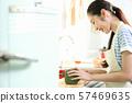 여성 라이프 스타일 요리 57469635