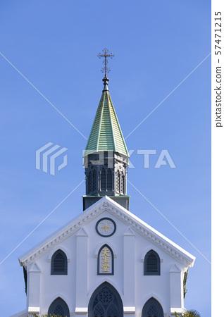 Oura Catholic Church in the blue sky 57471215
