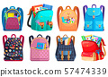 Colored School Backpack Back to School 57474339