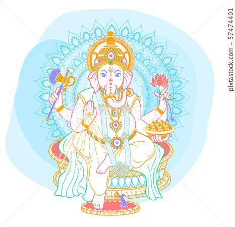 Ganesh linear style icon 57474401