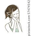 微笑与她的眼睛的妇女关闭了 57474542