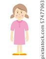 女孩的例證圖像 57477963
