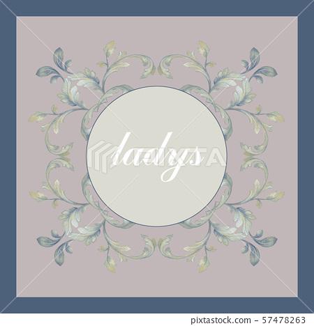 手繪風格花卉和邀請卡設計 57478263