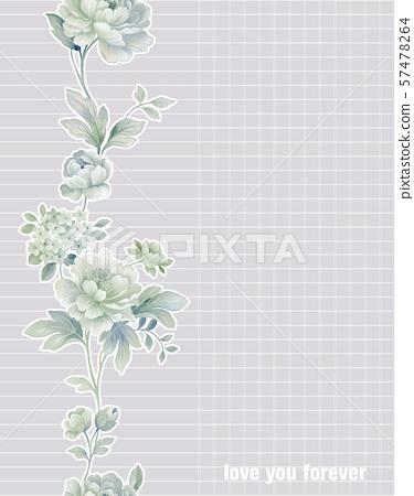 手繪風格花卉和邀請卡設計 57478264