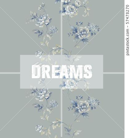 手繪風格花卉和邀請卡設計 57478270