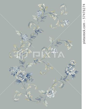 手繪風格花卉和邀請卡設計 57478274