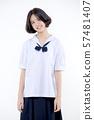 Portrait of Lovely Asian girl in school uniform 57481407