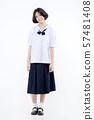 Portrait of Lovely Asian girl in school uniform 57481408