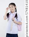 Portrait of Lovely Asian girl in school uniform 57481410