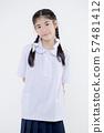 Portrait of Lovely Asian girl in school uniform 57481412