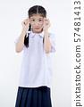 Portrait of Lovely Asian girl in school uniform 57481413