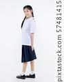 Portrait of Lovely Asian girl in school uniform 57481415