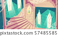 Spiral staircase in castle tower cartoon vector 57485585